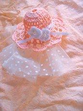 Cappellino bomboniera nascita