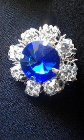 Anello ICE blu e argento