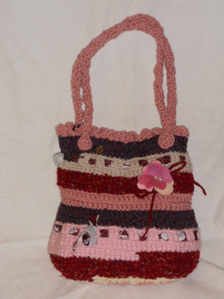 borsa fiore rosa