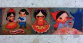 Bordura Frida Khalo - 1 metro -