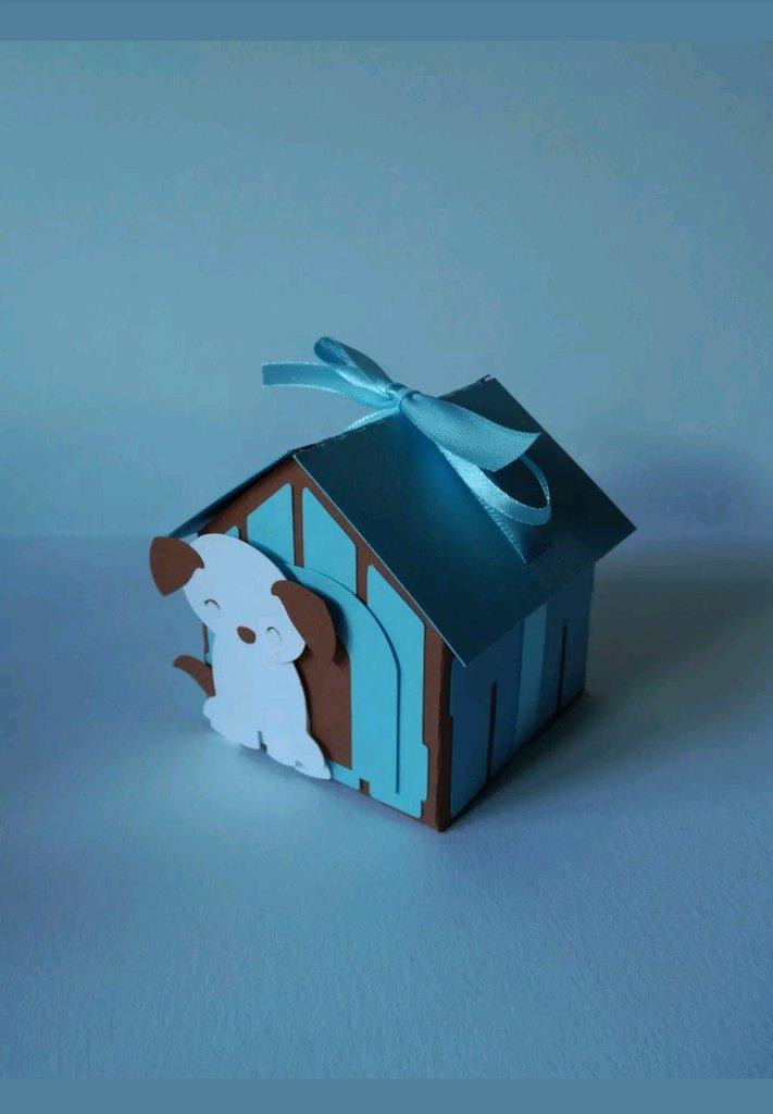 Scatolina scatola scatoline cuccia cane dog box confetti segnaposto cagnolino