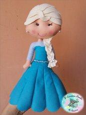 Principessa Frozen in pannolenci