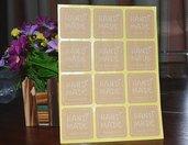 "Etichette 36 pezzi set ""hand made"" su carta kraft"