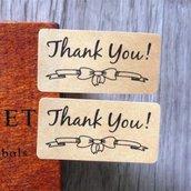 "Etichette 36 pezzi set ""Thank you"""