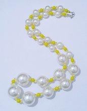 """Collana lunga  con perle e cristalli """"Biallo"""""""