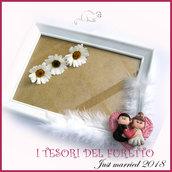 """Bomboniera """" Just married cuore rosso """" portaconfetti portafoto cornice matrimonio kawaii idea regalo sposi personalizzabile"""