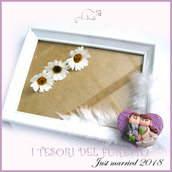 """Bomboniera """" Just married cuore viola  """" portaconfetti portafoto cornice matrimonio kawaii idea regalo sposi personalizzabile"""