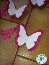 Segnaposti farfalle in feltro