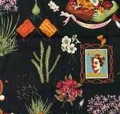 Stoffa Frida Kahlo  - (codice 76) - 47x51 cm.