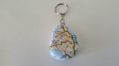 portachiavi cartina geografica