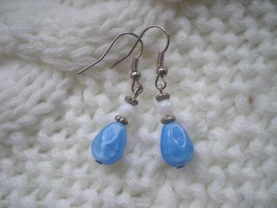 Orecchini pendenti azzurri
