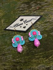 Orecchini soutache e perline