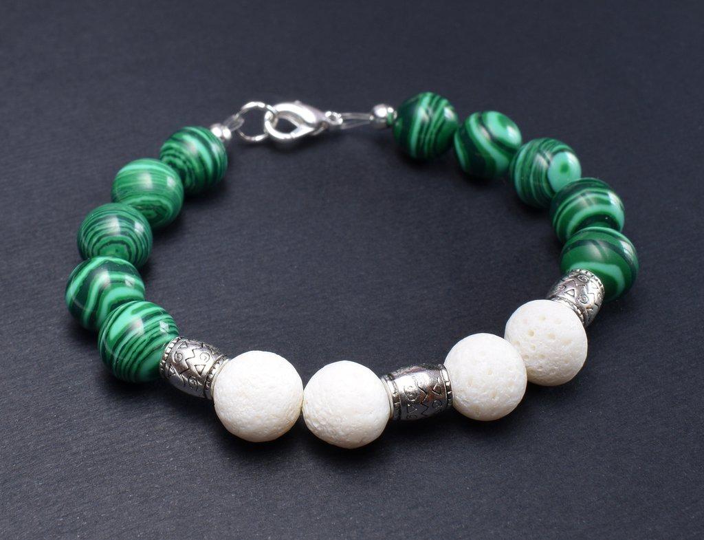 Bracciale bianco verde