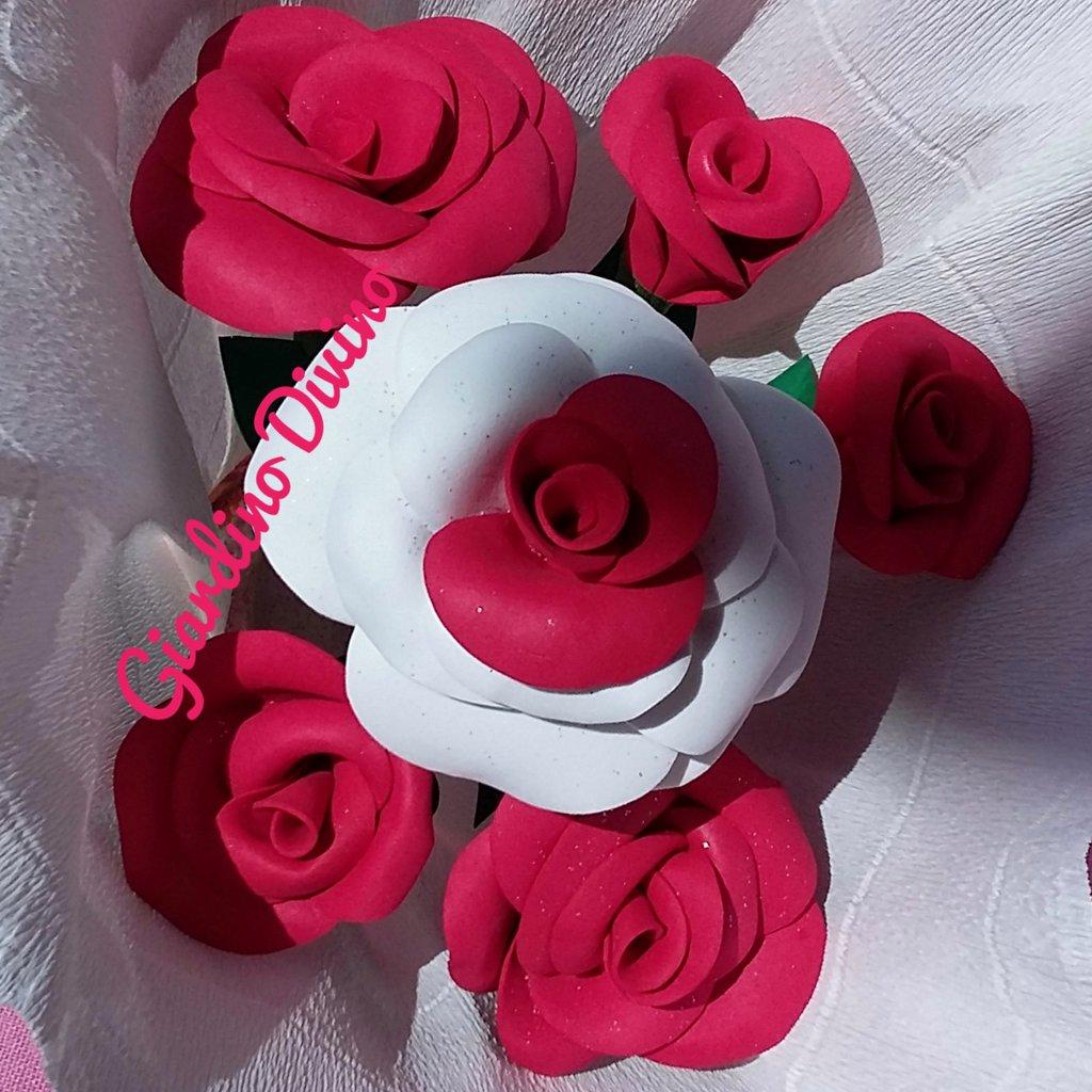 Pianta Di Rose Rosse E Bianche