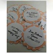 25 Tag pois rosa- Etichette per matrimonio, regalo, eventi, pacchetti, battesimo