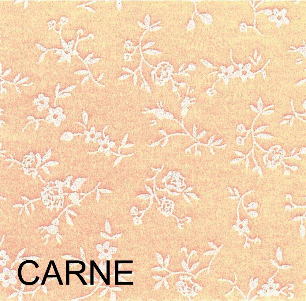 Pannolenci stampato sambuco color carne - rosa albicocca 20cm x 180cm