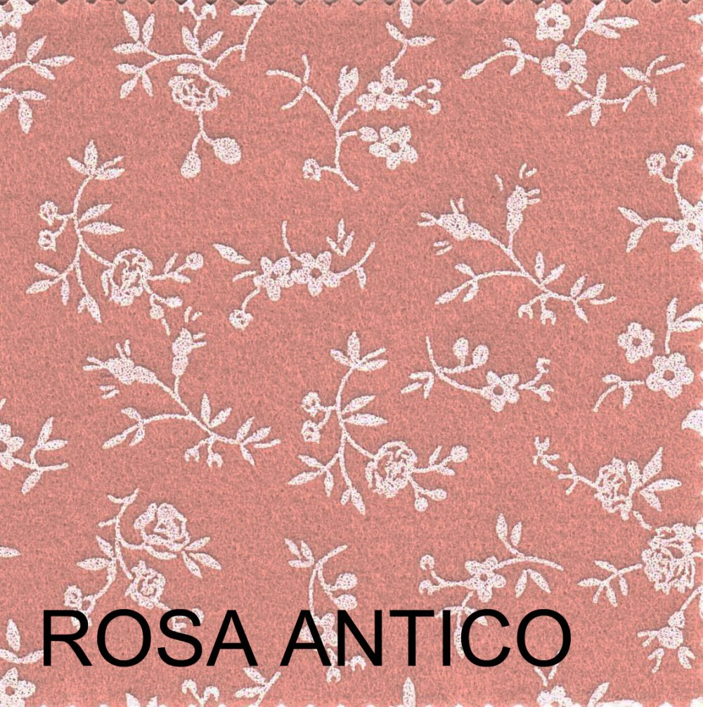 Pannolenci stampato sambuco rosa antico 20cm x 180cm