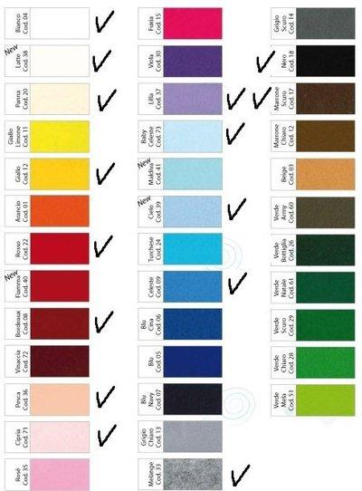 pannolenci 20cm x 180cm colori a vostra scelta