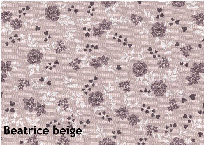 "Tessuto panama ""medioevale"" fiori marroni 30 cm x 280 cm"