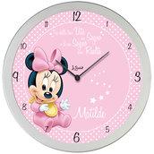 Orologio minnie da parete personalizzato con nome frase idea regalo compleanno