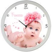 Orologio da parete personalizzato Foto nome frase idea regalo nascita Battesimo