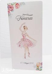 menù prima comunione Cresima Ballerina Danza completo stampa personalizzata