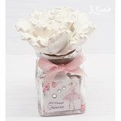 Bomboniera Ballerina Danza profumatore Comunione cresima peonia fiore confetti