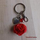 Portachiavi rosa rossa regalo festa della mamma