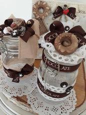 Zuccheriera vetro cioccolatosa