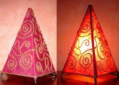 Lampada in Carta di riso decorazioni