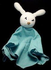 Dudù personalizzabile coniglietto amigurumi