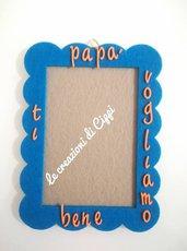 Portafoto in feltro fatto a mano e personalizzata per la festa del papà