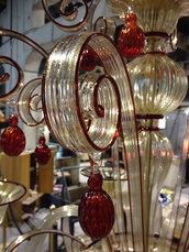 Gocce, ciondoli pendenti in vetro di Murano, Boemia o Swarovski, pezzi di ricambio per lampadari con pezzi rotti, come Venini, Maria Teresa, Toso, Mazzega, Artemide