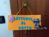 targhetta fuori porta per animali e portasacchetti