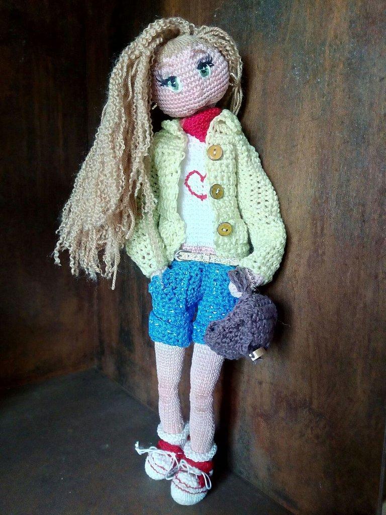 Bambola amigurumi Ginevra
