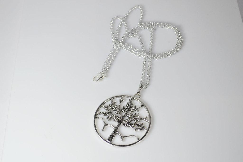 collana ciondolo albero della vita catena lunga 80 cm ciondolo festa della mamma