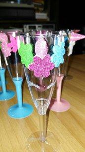 """""""Unicorno"""" kit 6 Calici PVC personalizzabili per compleanno bambini"""