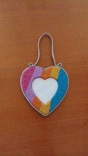 Cornice portafoto a forma di cuore