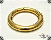 Moschettone anello, 41 mm. colore oro - 2 pezzi