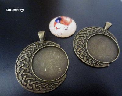 NOVITA'! Base cabochon color bronzo (25mm) (cod.new)