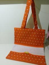 Shopper cuori arancio