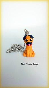 Collana in fimo cane carlino, miniatura cane, idee regalo compleanno, regalo amanti dei cani, gioielli cane, accessori carlino