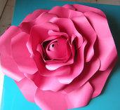 rosa di carta - fiori per decorare le pareti - feste - cerimonie - paper flowers - solo su ordinazione