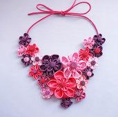 Collana kanzashi  con fiori 1.3