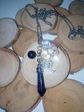 Collana pendolino Blue Golden Stone