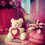 Orso bianco cuore