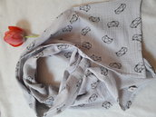 Sciarpa in mussola di cotone leggera morbida per i bambini e gli adulti