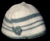 Personalizzabile Set cappellino scarpine baby