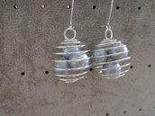Orecchini perle in gabbia