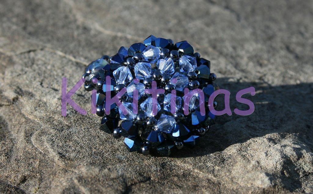anillo de Swarovski azul